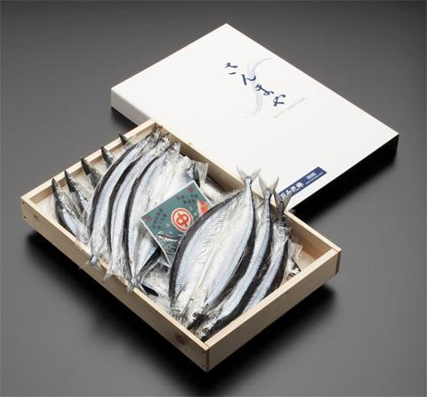 画像1: さんま開き LL 15枚(木箱入)